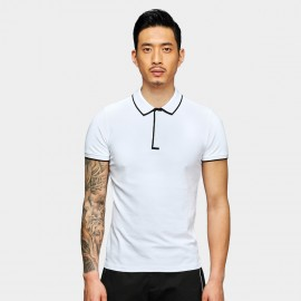 Basique Visible Edge White Polo (02.0022)