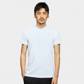 Basique Pinned Minimalist White Polo (02.0025)