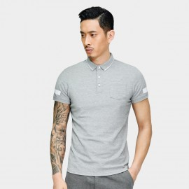 Basique Simple Symbols Grey Polo (02.0026)