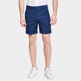Basqieue Gloss Rolled Chino Royal Blue Shorts (03.0123)