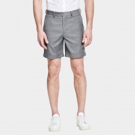 Basqieue Gloss Rolled Chino Grey Shorts (03.0123)