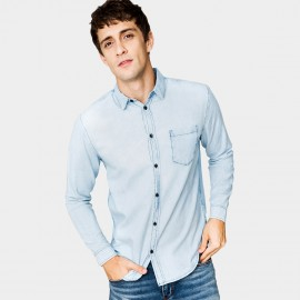 Kuegou Stonewashed Blue Shirt (ZC-649)