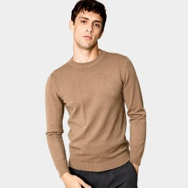 Kuegou Colourful Camel Knit (XZ-8921)