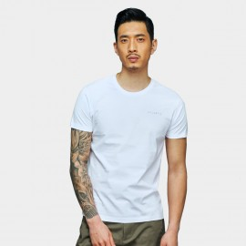 Basique Atlantis Printed White Tee (01.0080)