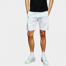 Basique Stylish Line White Shorts (21.002)