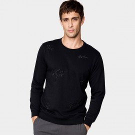 Kuegou Personal Black Sweater (MW-1531)
