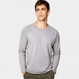 Kuegou Unembellished Grey Sweater (LW-20212)