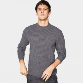 Kuegou Honeycomb Charcoal Knit (DZ-11911)