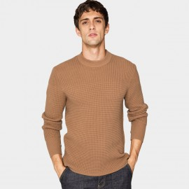 Kuegou Honeycomb Brown Knit (DZ-11911)