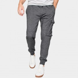 Kuegou Lounge Button Pocket Cuffed Grey Pants (ZK-759)