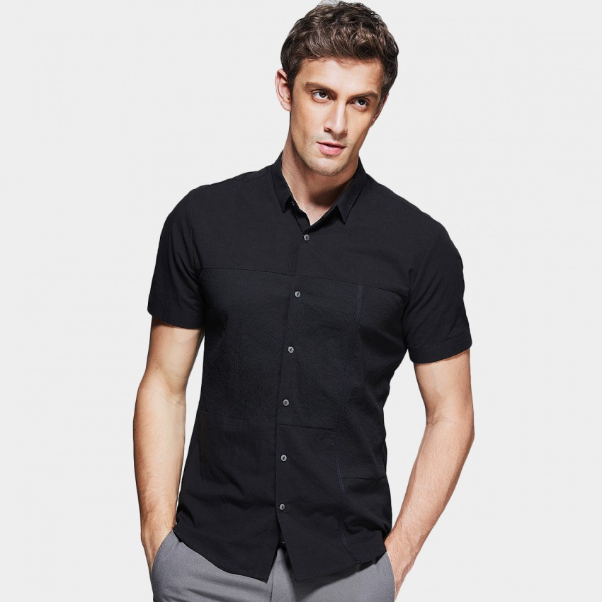 Kuegou Timeless Black Shirt (XC-02611)