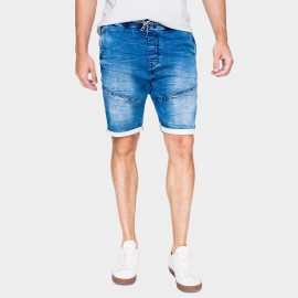 Kuegou Rolled Edge Blue Denim Shorts (KK-2926)
