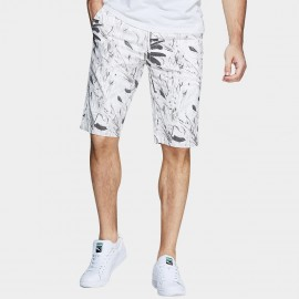 Kuegou Hawaii White Shorts (HK-4543)
