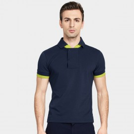 Basique Fluorescent Fleek Navy Polo (02.0011)