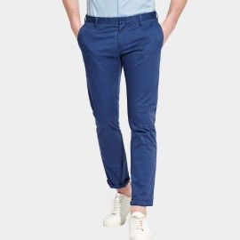 Basique Ankle Rolled Chino Navy Pants (22.0012)