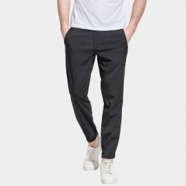 Basique Slim Leg Executive Long Charcoal Pants (22.0013)