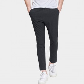 Basique Silm Leg Cotton Casual Long Charcoal Pants (22.0014)