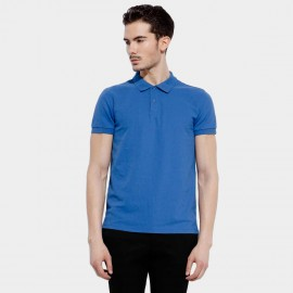 Basique Collar Royal Blue Polo (02.0001)