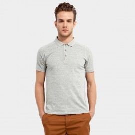 Basique Cotton Plain Grey Polo (02.0002)