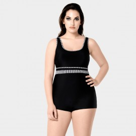 Balneaire Striped Black One Piece (60748)