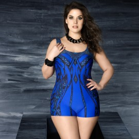 Balneaire Symetrical Pattern Blue One Piece (60623)