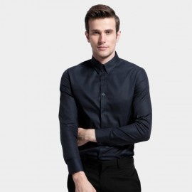 Basique Cotton Slim Fit Navy Shirt (03.0025)