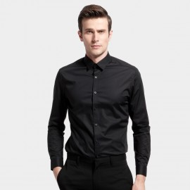 Basique Slim Fit Black Shirt (03.0052)