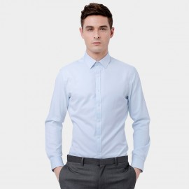 Basique Long Sleeve Smart Light Blue Shirt (03.0075)