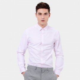 Basique Long Sleeve Smart Pink Shirt (03.0075)