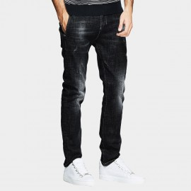 Kuegou Washed Out Black Jeans (RK-76103)