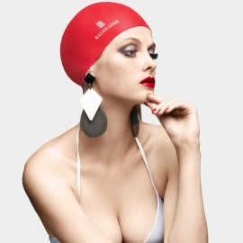 Balneaire Minimalistic Fire Red Swimming Cap (30148)