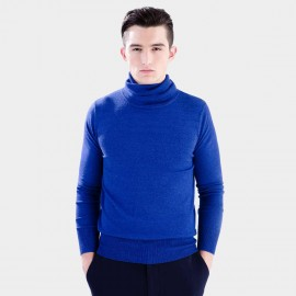 Basique Roll Neck Blue Knit (05.0029)