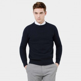 Basique Cable Navy Knit (05.0034)