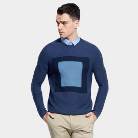 Basique Contrast Blue Knit (05.0035)
