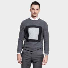 Basique Contrast Grey Knit (05.0035)