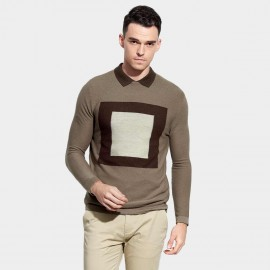 Basique Contrast Light Brown Knit (05.0035)