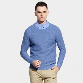 Basique Crew Neck Blue Knit (05.0040)