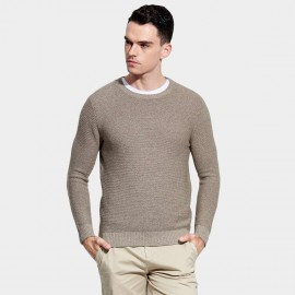 Basique Crew Neck Brown Knit (05.0040)