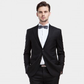 Basique Single-breasted Black Blazer (06.0006)