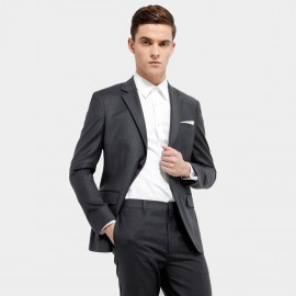 Basique Single-breasted Grey Blazer (06.0006)