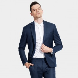 Basique Single-breasted Navy Blazer (06.0014)