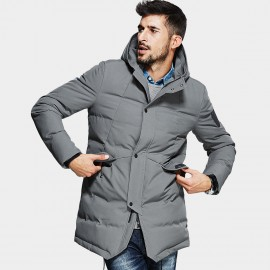 Kuegou Four-Button Grey Down Jacket (BW-7691)