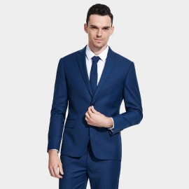 Basique Single-breasted Royal Blue Blazer (06.0014)