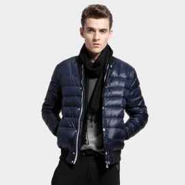 Basique Contrast Navy Down Jacket (10.0005)