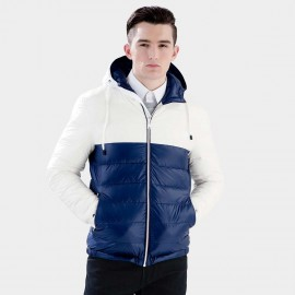 Basique Colour Block White Down Jacket (10.0011)
