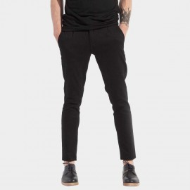 Basique Slim Fit Black Trousers (22.0003)