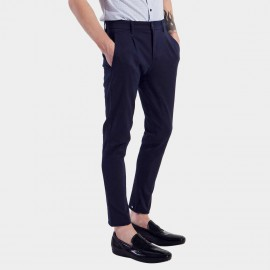 Basique Slim Fit Navy Trousers (22.0003)