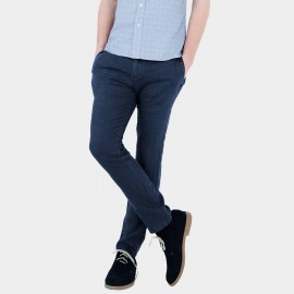 Basique Slim Fit Navy Trousers (22.0008)