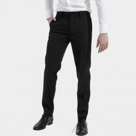 Basique Skinny Fit Business Black Trousers (25.0003)