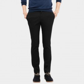 Basique Skinny Fit Office Black Trousers (25.0004)